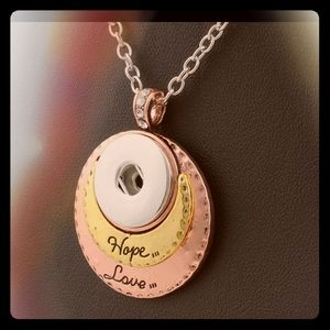 Hope & Love Snap Sterling Silver Necklace ❤